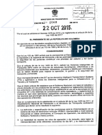 Decreto 2060-2015 Oct. 22