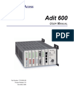 Adit 600-9-4.User Manual