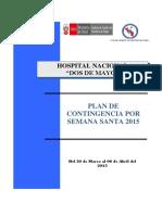 Plan de Contingencia Semana Santa 2015