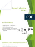 Applications of Adaptive Filters