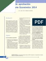 Proceso de Aprobación Del Paquete Económico 2014