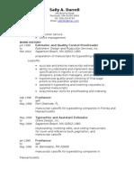 Jobswire.com Resume of sallydur