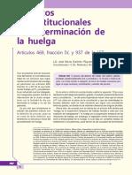 Aspectos Inconstitucionales de La Terminación de La Huelga. Artículos 469, Fracción IV, y 937 de La LFT