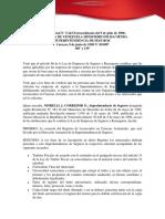 Providencia Donde Se Establece El Registro de Licencias en Ciencias Actuariales p 1097