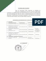 Comunicado Proceso CAS 2015