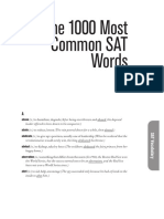 1000 Most Common SAT Words-To Read