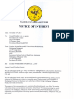 City of Providence Council President Notice of Interest