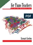 Gordon, S. - Etudes for Piano Teachers - Reflections on the Teacher's Art