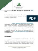 Modelo Ao Ordinria de Desfazimento de Relao Contratual Com Declaratria de Nulidade de Clusulas Com Reembolso de Parcelas Adimplidas e Repara