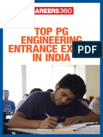 Top PG Engineering Entrance Exams in India