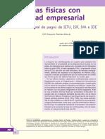 Personas Físicas Con Actividad Empresarial. Práctica Integral de Pagos de IETU, IsR, IVA e IDE