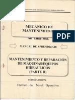 Mantenimiento y Reparacion de Maquinas Equipos Hidraulicos II.