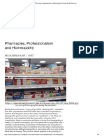 Pharmacies, Professionalism and Homeopathy _ Science-Based Pharmacy