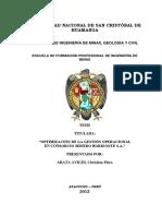 25767667 Tesis Gestion de Operaciones Mineras - Univ San Crist Huamanga - Ayacucho Perú