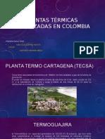 Plantas Termoeléctricas Localizadas en Colombia