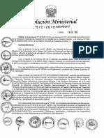 RM N° 572-2015-MINEDU directiva año lectivo 2016