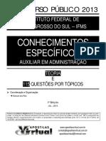 Apostila Conhecimentos Específicos - Auxiliar Administrativo