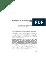 Cálculo volúmenes excavación