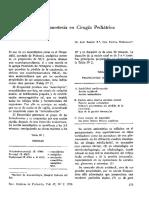 Neuroleptoanestesia en Cirugia Pediatrica