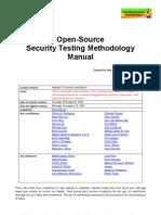 Open Source Security Testing Methodology Manual 2 0