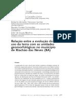 Relação entre a evolução do uso da terra com as unidades geomorfológicas no município de Riachão das Neves- BA
