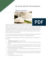 Cum Sa Prepari Acasa Ulei de Cocos Presat La Rece