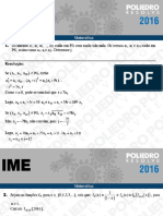 IME 2016 - Matemática - 2ª Fase