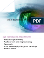 Basic Examination of the Eye Oie