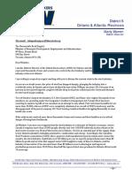 Letter urging for steel action plan