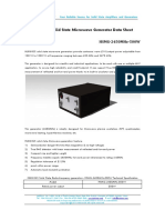 HUKINGS Solid State Microwave Generator Data Sheet-HSMG-2450MHz-500W
