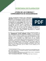 Historias de Las Comunas y Corregimientos de Dosquebradas