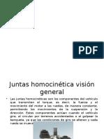 Finalidad de Las Juntas Homocinéticas