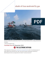 Israel's Sea Blockade of Gaza Motivated by Gas Finds