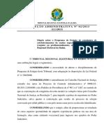 TRE BA Resolucao Administrativa No 02 2013 Programa de Estagio