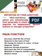 Food Additive Simple Ppt
