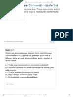 Exercícios Sobre Concordância Verbal - Exercícios Brasil Escola