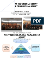 Paradigma Sehat Upaya Promotif Dan Preventif Komisi i,II,III