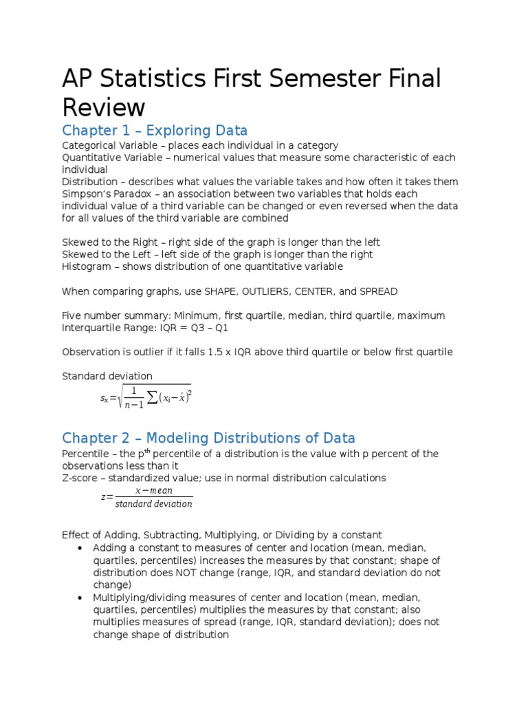 statistics final review chapters 7 8 9