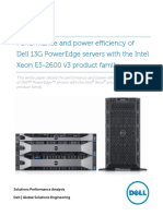 Performance and Power Efficiency of Dell PowerEdge Servers With E5-2600 v3