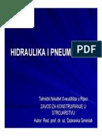 HIDRAULIKA I PNEUMATIKA I - Predavanja HiP I