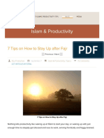 7 Tips on How to Stay Up After Fajr - ProductiveMuslim