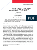 Bridging Trade Theory and Labour Econometrics