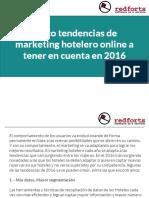 Cinco tendencias de marketing hotelero online a tener en cuenta en 2016