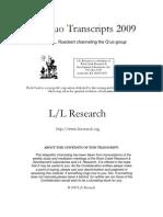 The Q'uo Transcripts 2009 - LL Research