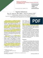 Sagittal Imbalance of spine