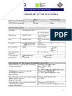 1. Application for Selection of Schools