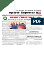 December 23 - 29, 2015  Sports Reporter
