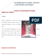 Food and Adulteration - 12th Class Chemistry Practical