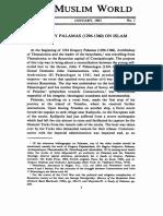 Gregory Palamas on Islam