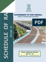 Pwd Schedule-Schedule of Rates of PWD (W.B) 2015 for Road Bridge Work (Vol-III) Wef 01 .12 .2015
